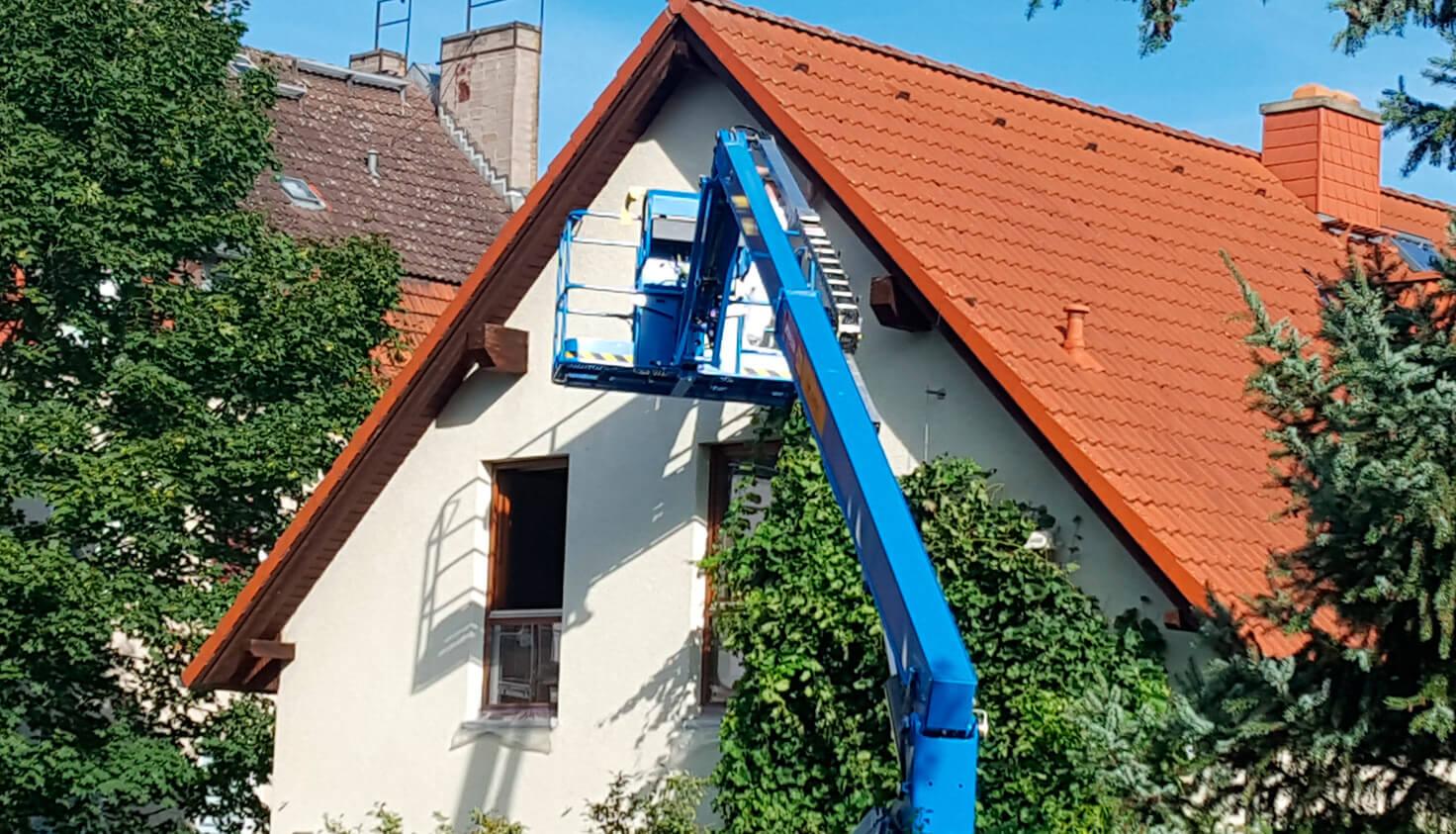 Löwe Dachkastenbeschichtung - Referenz Malerbetrieb Kluge Berlin