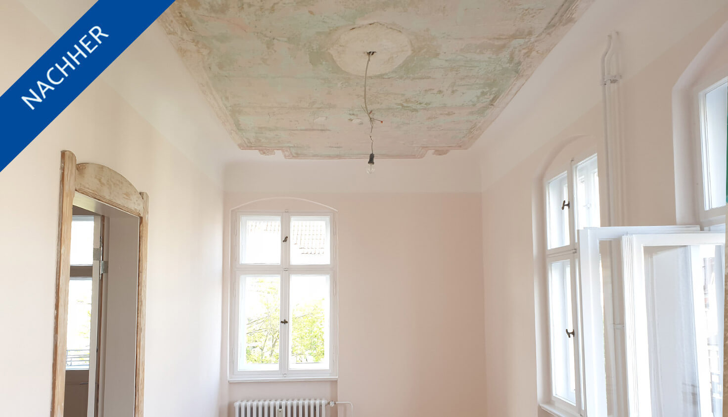 Restauriertes Zimmer in steglitzer Altbauwohnung