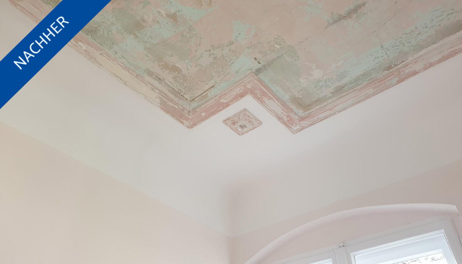 Renovierte Wand und Decke in steglitzer Altbauwohnung