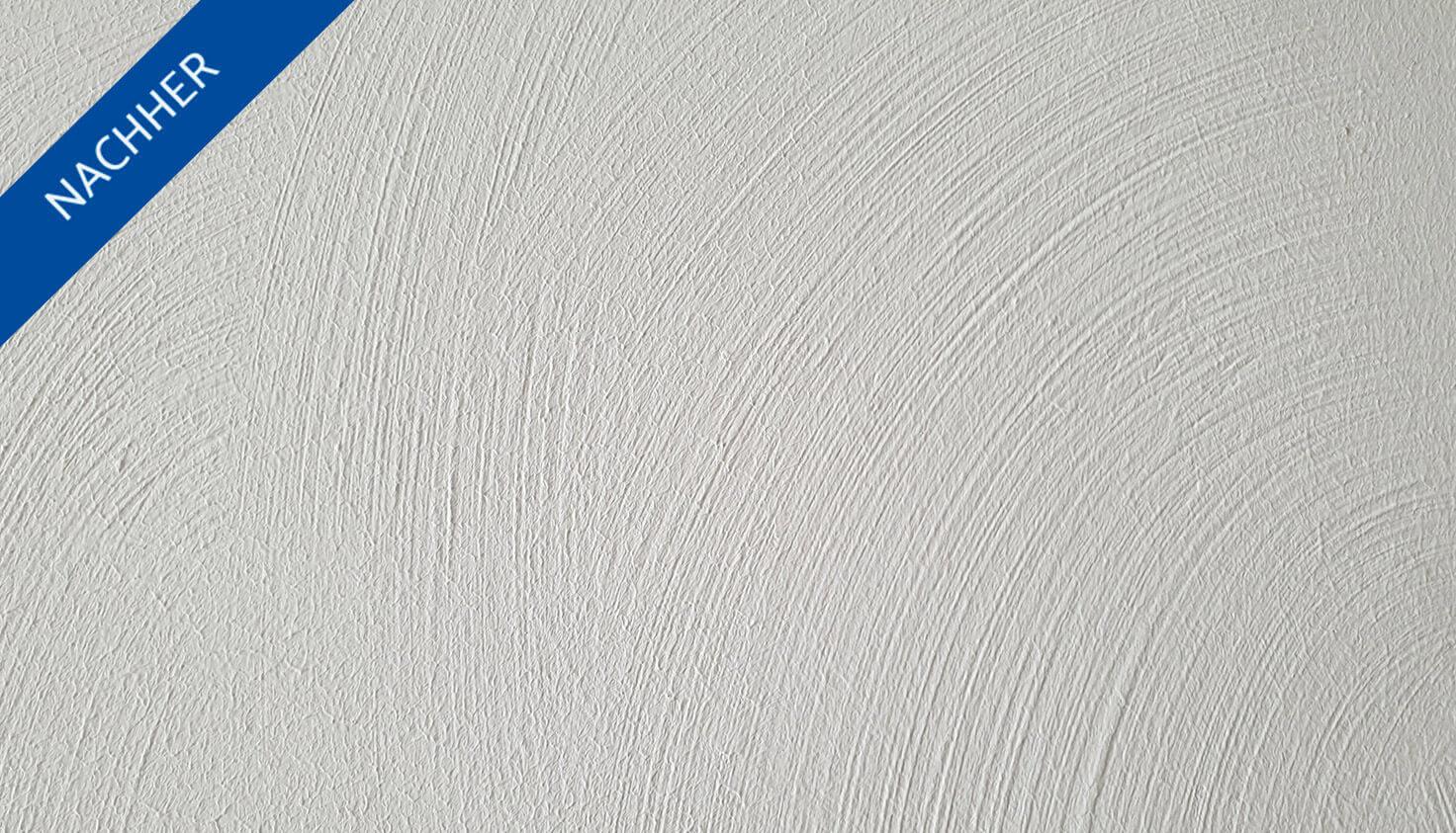 restaurierte Weiße Wand in Steglitzer Altbauwohnung